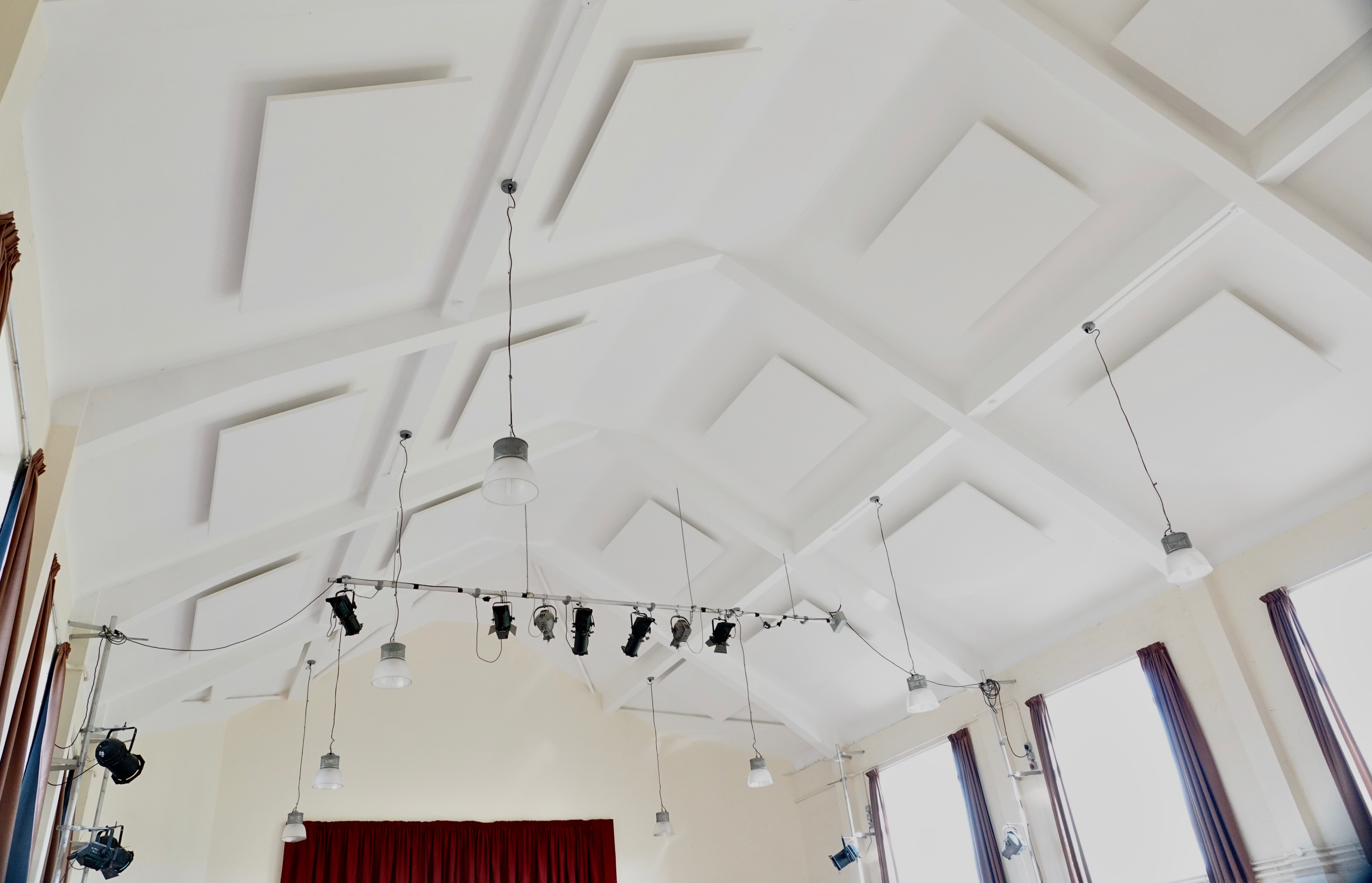 Acoustic panels and stage lighting