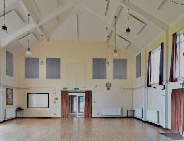 Main Hall showing acoustic panels
